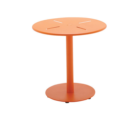 Nomad 80cm Round Pedestal Table by Gloster Furniture GmbH | Bistro tables