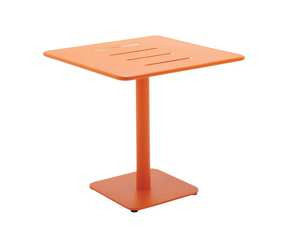 Nomad 80cm Square Pedestal Table by Gloster Furniture | Bistro tables
