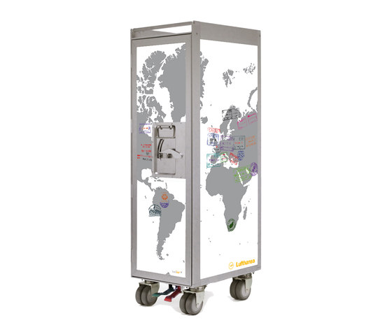 bordbar silver edition lufthansa passport white by bordbar | Tea-trolleys / Bar-trolleys