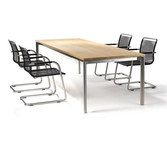 Swing table indoor by Fischer Möbel | Restaurant tables