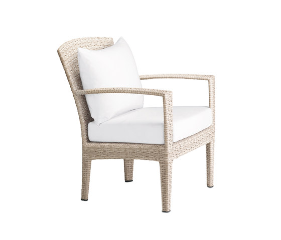 Panama Ecru Lounge chair by DEDON | Garden armchairs