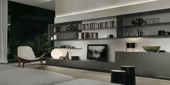 Abacus living by Rimadesio | Wall storage systems