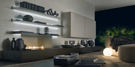 Abacus living by Rimadesio | Cabinets