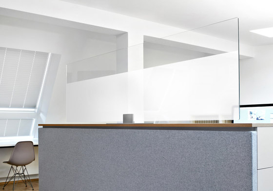 ARCHITECTS GLASS desktop by acousticpearls | Space dividers