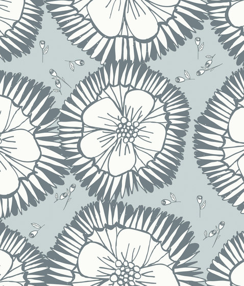 Simply Scandinavian Blossom Gray by wallunica | Wall coverings / wallpapers