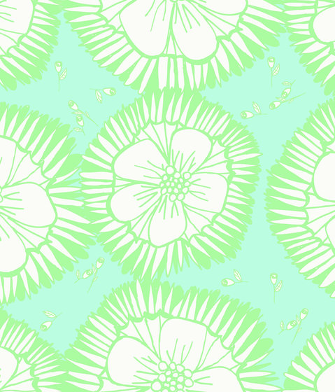 Simply Scandinavian Blossom Green Harmony by wallunica | Wall coverings / wallpapers