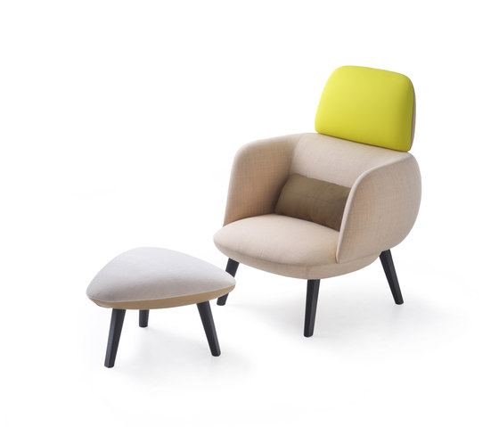 Betty High Armchair and Pouf by Maxdesign | Lounge chairs