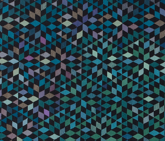 Triangles Diamond medallion blue-green by GOLRAN 1898 | Rugs / Designer rugs
