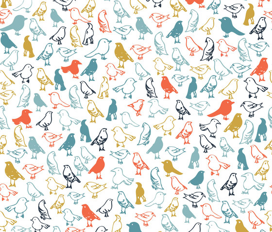 A Colourful World | Birds Galore by wallunica | Wall coverings / wallpapers