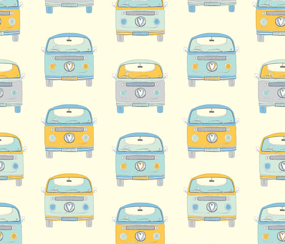 A Colourful World | Campervans by wallunica | Wall coverings / wallpapers