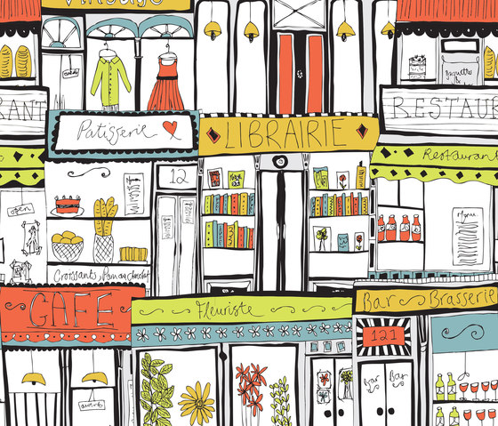 A Colourful World | Shopfronts by wallunica | Wall coverings / wallpapers