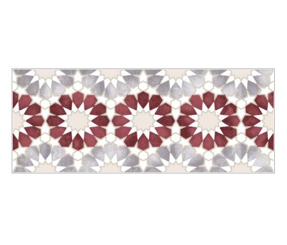 Havana Folk Amaranto Inserto A by Fap Ceramiche | Ceramic tiles