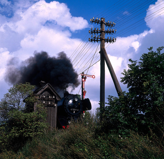 Railway Romantic | A BR 41 steam locomotive by wallunica | Wall art / Murals