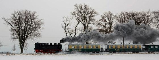 "Railway Romantic | The steam engine ""Orlando Furioso"" by wallunica | Wall art / Murals"