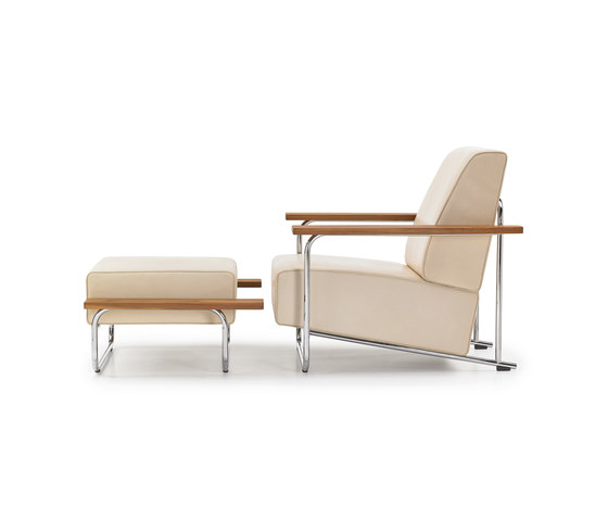 Lovell Easy Chair Ottomane Steel de VS | Sillones