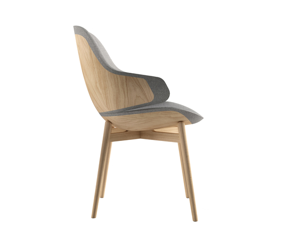 Ciel! Woody Chair by TABISSO | Visitors chairs / Side chairs