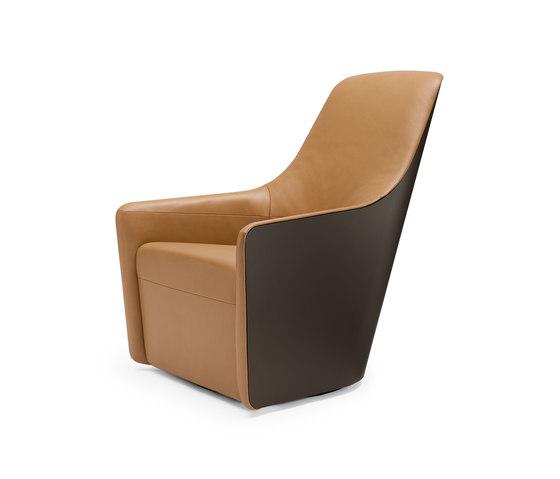 Foster 520 Sessel Leder von Walter Knoll | Loungesessel