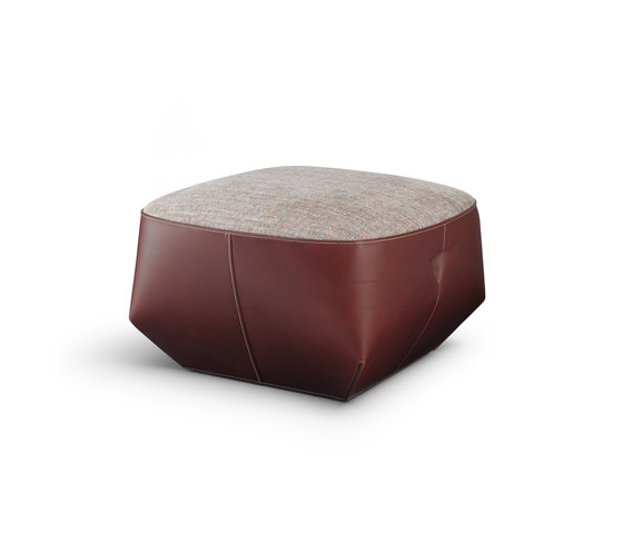Isanka Upholstered Seat by Walter Knoll | Poufs