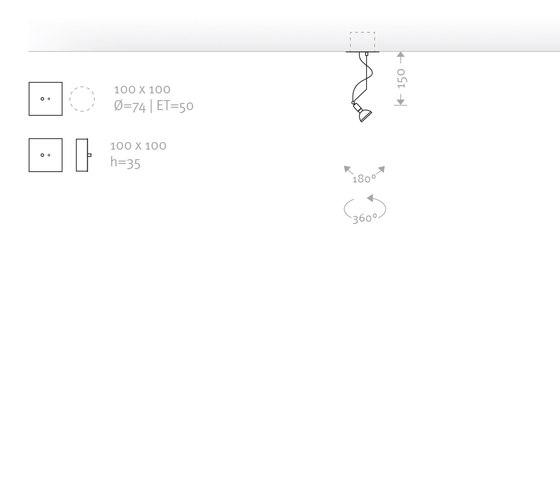 FLEX MONO by Buschfeld Design | Recessed ceiling lights