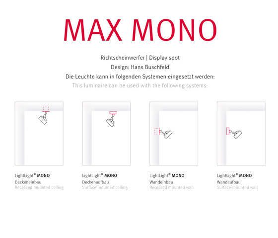 MAX MONO by Buschfeld Design | Spotlights