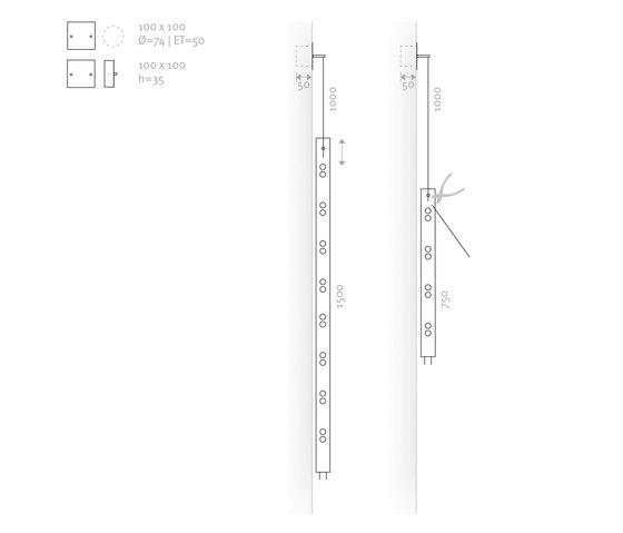 MIRROR MONO by Buschfeld Design | Wall lights in glass