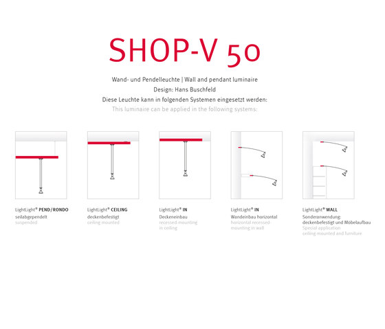 SHOP V50 by Buschfeld Design | Track lighting