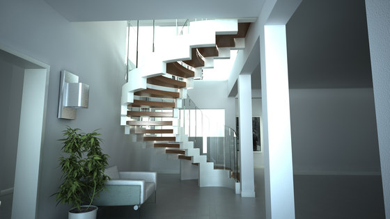 Cobra white by Siller Treppen | Staircase systems