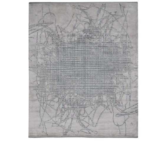 Bidjar | Grid Muted 2 von Jan Kath | Formatteppiche