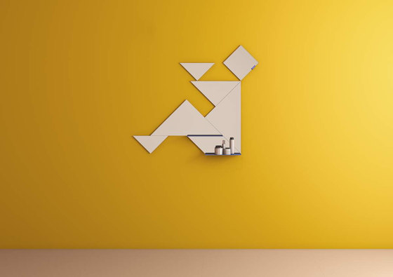 Tangram_mirror by LAGO | Mirrors
