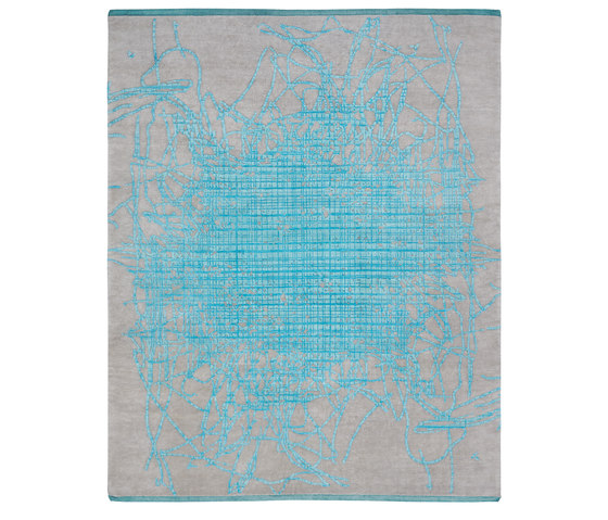 Bidjar | Grid Muted 2 by Jan Kath | Rugs / Designer rugs