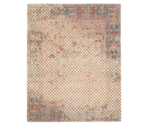 Erased Heritage | Sultanabad Madison Checker Raved by Jan Kath | Rugs