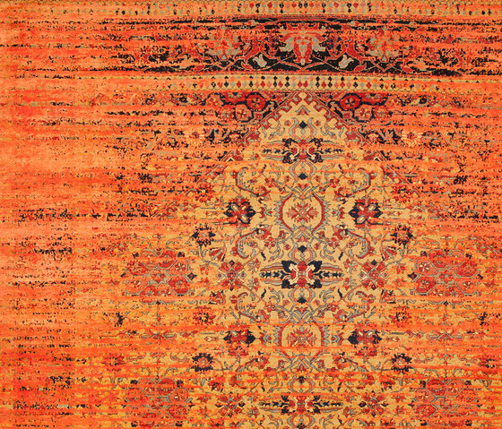 Erased Heritage | Serapi Queensbury Stomped by Jan Kath | Rugs