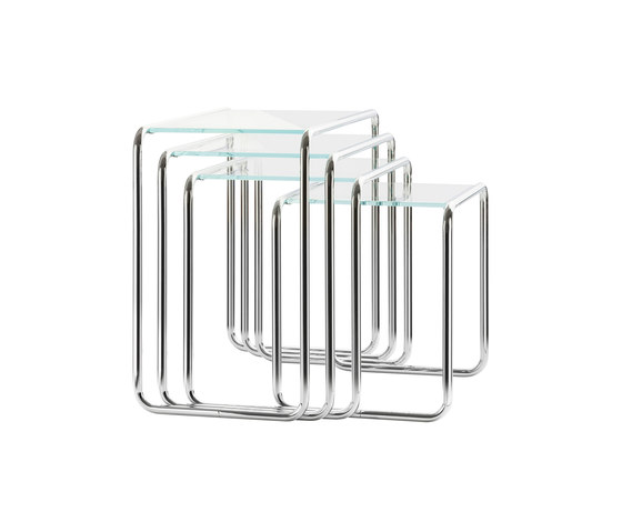 B 9 glass by Thonet | Nesting tables