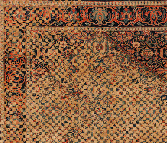 Erased Heritage | Serapi Queensbury Checker Raved by Jan Kath | Rugs
