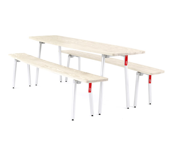 Leif table and bench by lasfera | Dining tables