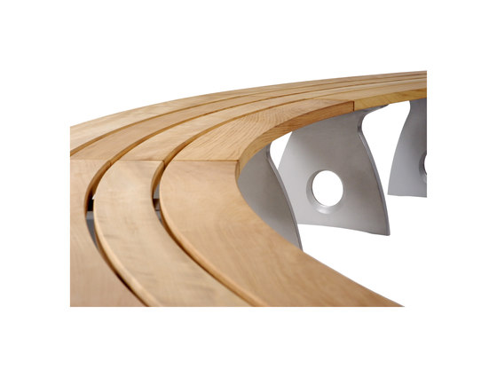 Smart Alex Curved Bench by Benchmark Furniture   Exterior benches