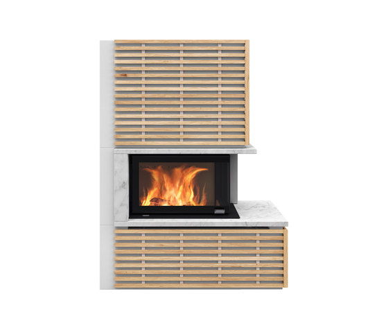 Fargo with oak panels by Nordpeis   Stoves