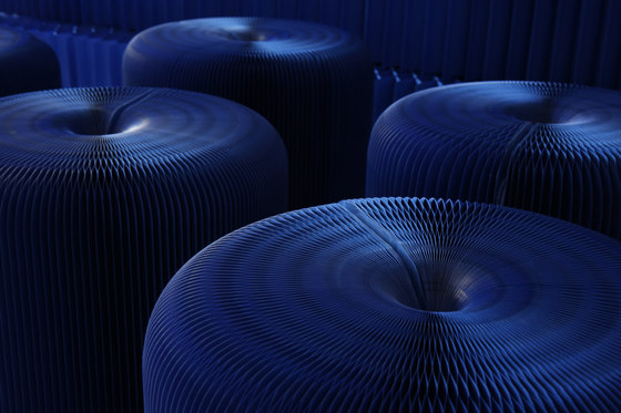 softseating | indigo blue paper softseating by molo | Ottomans