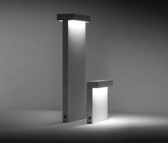 Mini Look bollard single emission H 220 mm by Simes | Path lights