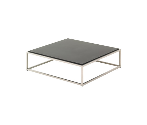 Cloud 100 x 100 Coffee Table (Quartz Top) by Gloster Furniture | Coffee tables