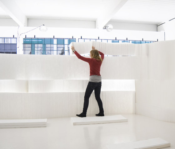 softblock | white textile by molo | Space dividers