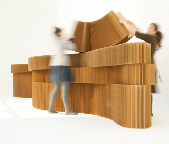 softblock | natural brown paper by molo | Space dividers