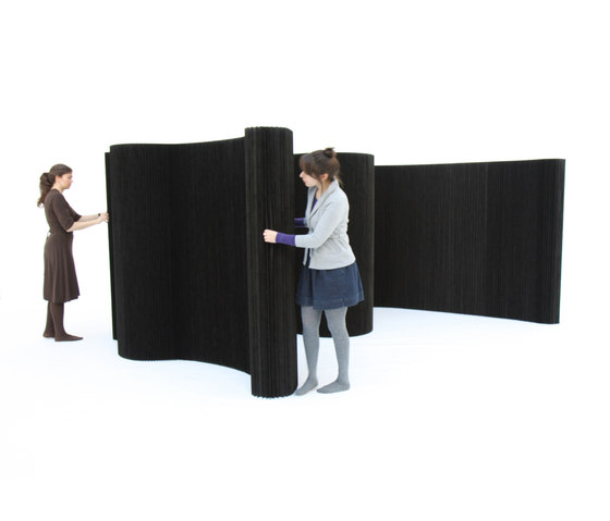 softwall | black textile by molo | Space dividers
