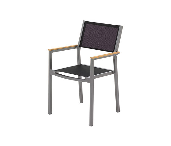 Luna Stacking Chair with Arms von Gloster Furniture GmbH | Stühle