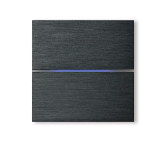 Sentido 2-way brushed dark grey by Basalte | KNX-Systems