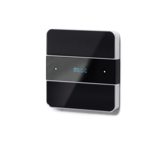 Deseo intelligent thermostat - black glass di Basalte | Sistemi KNX