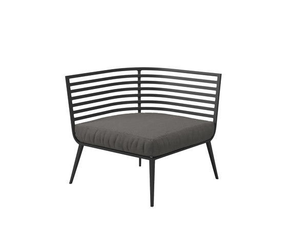 Vista Corner/End Unit by Gloster Furniture GmbH | Garden armchairs