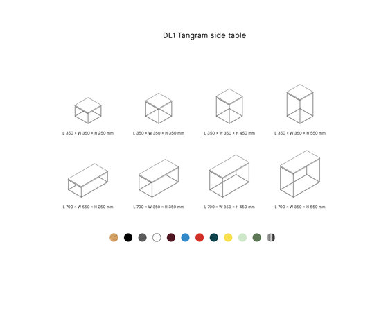 DL1 TANGRAM di LOEHR | Tavolini alti