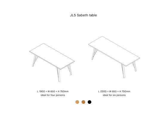 JL5 SABETH di LOEHR   Tavoli pranzo