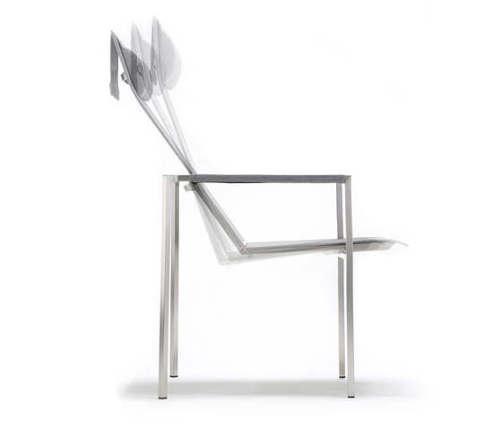 Pure Stainless Steel Recliner, high back by solpuri | Garden chairs
